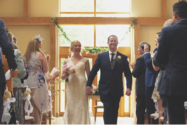 See a real wedding at Easton Grange