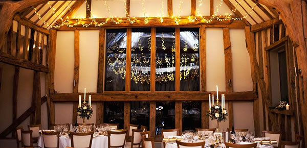 A flexible layout ensures that although the Celebration Barn can seat 175 guests for larger weddings, it can be transformed easily into a more intimate venue to suit smaller wedding party sizes.