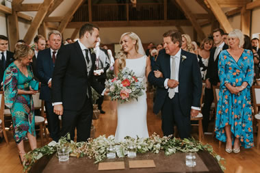 Esme & Nick, Wedding ceremony at Easton Grange