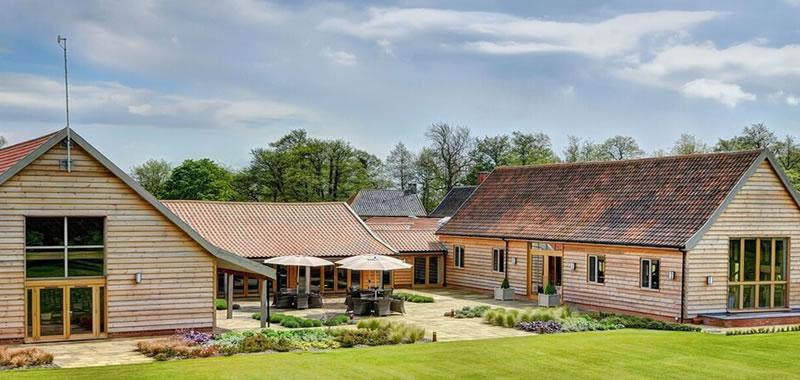 Beautiful buildings, modern luxury. Easton Grange wedding venue in Suffolk