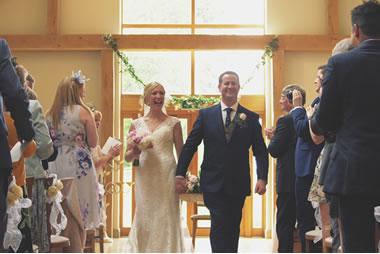 See a real wedding at Easton Grange