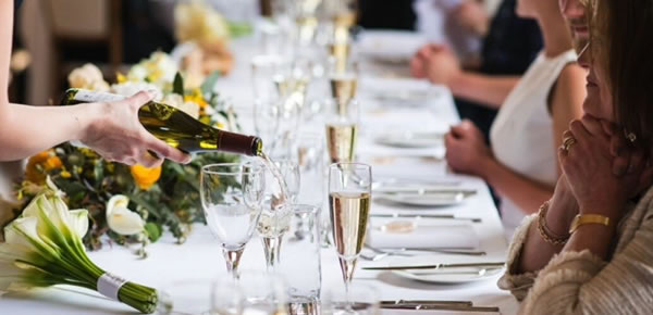 The Celebration Barn has a capacity of 175 seated guests and all of our tables, chairs, linens, crockery, cutlery and glassware are included in the price of the catering