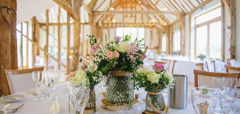 Wedding Breakfasts. Easton Grange luxury barn wedding venue