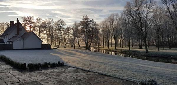Winter wedding countryside at Easton Grange